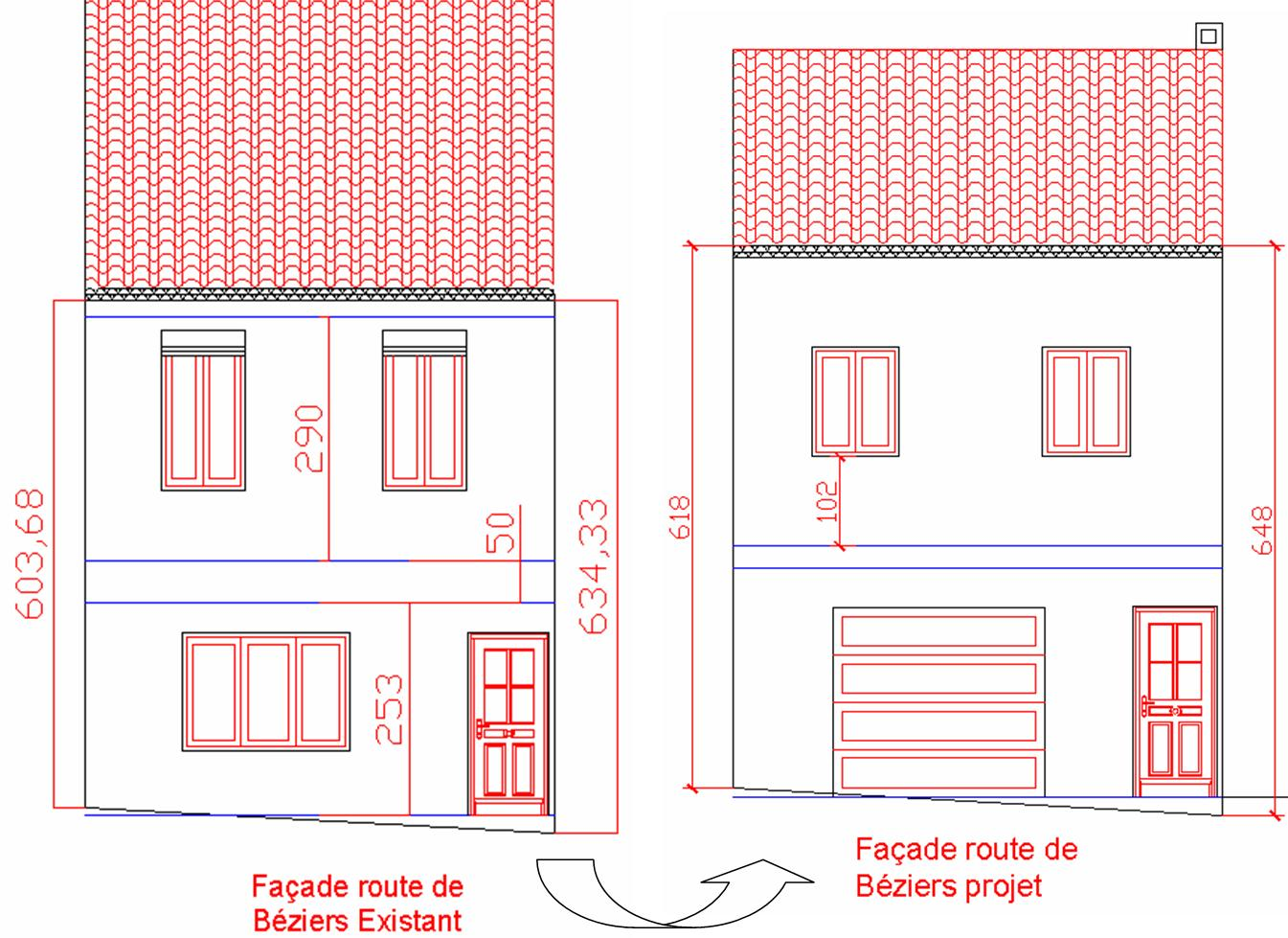 Plan maison for Modification d un permis de construire